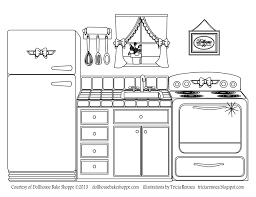 Coloring Page Kitchen Room Buildings And Architecture 14