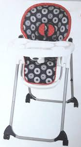 100 High Chair Pattern Red And Black Valcyn Ltd St Lucia