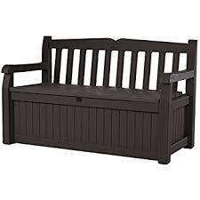 amazon com rubbermaid outdoor patio storage bench 4 cu ft
