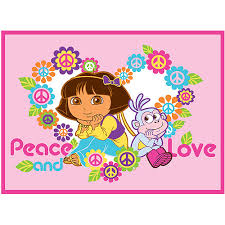 Dora The Explorer Kitchen Set Walmart by Dora The Explorer Peace And Love Nylon Rug Pink For Lilly U0027s Room