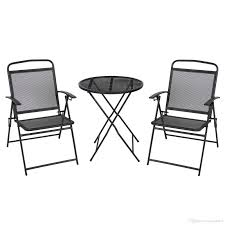 2017 Patio Bistro Set Outdoor Table And Chairs Wrough Iron With Black  Finish From Hongxinlin21, $80.41 | Dhgate.Com Americana Wicker Bistro Table And Chairs Set Plowhearth Royalcraft Cannes Brown Rattan 3pc 2 Seater Cube Breakfast Ceylon Outdoor 3piece By Christopher Knight Home Hampton Bay Aria 3piece Balcony Patio Sirio Valentine Swivel Ellie 3 Piece Folding Fniture W Round In Dark Outdoor Cast Alinium Rattan Ding Sets Georgina With Cushions Wilko Effect