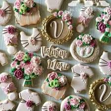 A Post From Rustic Floral Baby Shower Cookies Welcoming Valentina Marie