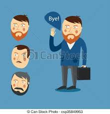 Businessman Greeting Partner Concept Business Meeting Colleagues Say Goodbye Hello Handshake Vector