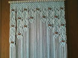 Door Decor Beaded Curtain Made in Macrame by craftflaire on Etsy
