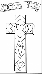 Excellent Printable Crosses Coloring Pages With Christian Easter And Bible Preschool