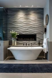 Tiling A Bathtub Lip by View This Great Contemporary Full Bathroom With High Ceiling