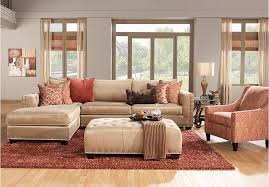 Cindy Crawford Mackenzie Sectional Sofa by Amazing Picture Of Cindy Crawford Home Auburn Hills Taupe Leather
