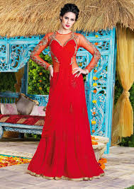 indian designer gowns online shopping usa red evening party gown