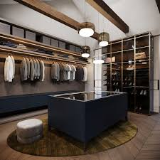Dramatic Interior With Luxury Closets Bathrooms Closet