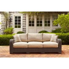 Ty Pennington Patio Furniture Parkside by Brown Jordan Northshore Patio Loveseat With Harvest Cushions And