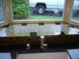 Kitchen Bay Window Over Sink by Glass Mossaic Kitchen Backsplash Behind Sink Bay Window New