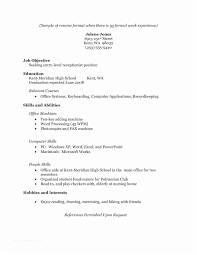 Resume Examples For Jobs With Little Experience How To Write A No Job