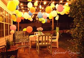 Birthday Party Decoration Outdoor ~ Image Inspiration Of Cake And ... Domestic Fashionista Backyard Anniversary Dinner Party Backyards Cozy Haing Lights For Outside Decorations 17 String Lighting Ideas Easy And Creative Diy Outdoor I Best 25 Evening Garden Parties Ideas On Pinterest Garden The Art Of Decorating With All Occasions Old Fashioned Bulb 20 Led Hollow Bamboo Weaving Love Back Yard Images Reverse Search Emerson Design Market Globe Patio Trends Triyaecom Vintage Various Design Inspiration