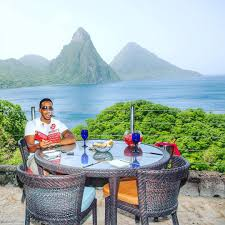 100 Jade Mountain Ludacris Visits Soufriere Locals Caribbean Tings