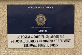 GORDON BARRACKS – British Forces Post fice Hameln – BFPO31