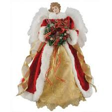 16 Fiber Optic Christmas Angel Tree Topper