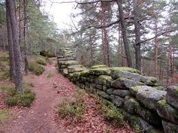 le tour du mont sainte odile par le mur païen et les ruines du