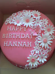 This Pretty pink flower birthday cake is what Zoey wants for her birthday Mommy felt