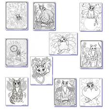 Cat Coloring Book Cat Colouring Pages Adult Coloring Fairy Cats