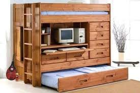 Twin Bunk Beds With Desk And Stairs Gorgeous Bed Desks Plans