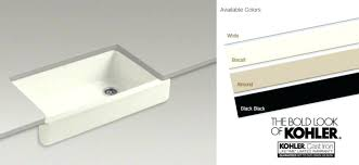 Kohler Sink Rack Almond by Kohler Kitchen Sink Color Samples Chart Cast Iron Sinks Double