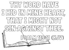 Bible Verse Coloring Pages Kjv Colouring Color