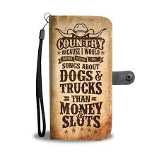 100 Country Songs About Trucks Dogs Money Sluts Phone Case Wallet Funny Skerb412