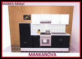 küchenzeile mankanova 3 küche 270 cm hochglanz schwarz weiß ohne geräte