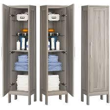 badezimmer hochschrank 1 türig re li tarifa 100 in kiefer grau nb