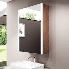 emke 50x70x15 cm led spiegelschrank badezimmerspiegel badschrank mit beleuchtung