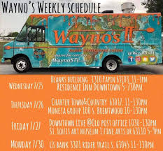 Wayno's - Food Truck (@WaynoSTL) | Twitter The Best Food Festivals In St Louis Truck Friday Hyper House 20 Trucks That Should Be On Your Summer Bucket List August Events Missouri Our Guide For Buffalo Eats Sauce Magazine First Look Court Louie Food Truck Court Tower Where To Find Farmers Markets The Area And Waynos Mobile Intertional Cuisine Grove Park May Thru October Music