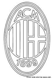 Ac Milan Logo Soccer Coloring Pages