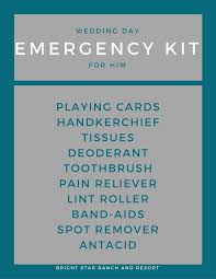 Wedding Day Emergency Kits His And Hers