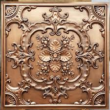 Cheap 24x24 Ceiling Tiles by Pl19 Faux Tin Antique Copper Ceiling Tiles 3d Embossed Photography
