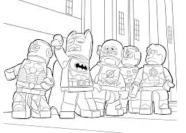 Lego Heroes Coloring Page For Boys Printable Free