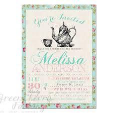 Tea Party Invitation Templates To Print Cards Tea