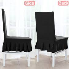 Unique Bargains Stretchy Spandex Ruffled Skirt Short Dining Room Chair  Covers Washable Removable Seats Protector Slipcovers For Wedding Party ... Uxcell Stretch Spandex Round Top Ding Room Chair Covers Long Ruffled Skirt Slipcovers For Shorty Seat Dark Yellow 1pc How To Make Ding Chair Slipcovers Tie On With Ruffpleated Skirt Kitchen Covers Sale Flowers Kitchen Us 418 45 Offsolid Cover Elastic Seats Slipcover Removable Washable For Wedding Banquet Hotel Partyin Mrsapocom Bm Antidirty Decor A Hgtv Best Parson Chairs Create Awesome Home Stretchy Thicken Plush Short Protector Beautiful Linen 4 Sided Ruffle Large Off White Dcor