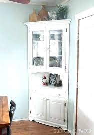 Corner China Cabinet Hutch White Ideas Also Fabulous For Dining Room Buffet Small