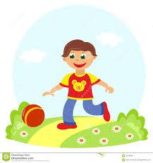 Little Boy Clipart Ball 46