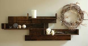 Modern Rustic Pallet Wood Shelves Reclaimed Etsy Wall