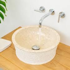 marmor waschbecken jaako 40 cm creme kaufen
