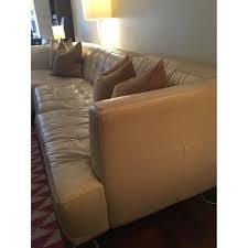 Alessia Leather Sofa Living Room by Macy U0027s Alabaster Leather Sectional Sofa Aptdeco