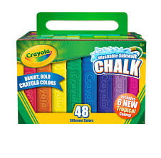 100 Chalks Truck Parts Crayola Washable Sidewalk Chalk In Assorted Colors 48 Count