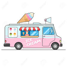 100 Icecream Truck Ice Cream Side View Seller Of Ice Cream In The Van Ice