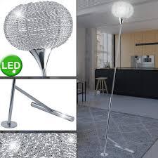 etc shop stehle led 5 watt steh decken fluter leseleuchte chrom aluminium beleuchtung schlafzimmer kaufen otto