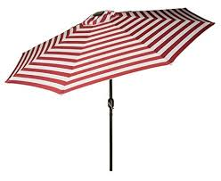 Sunbrella Patio Umbrellas Amazon by Striped Patio Umbrella Amazon Com