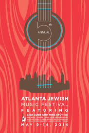 A Music Festival Poster That Combines Both Guitar And City Skyline Imagery Could Be