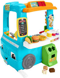 Amazon.com: Fisher-Price Laugh & Learn Servin' Up Fun Food Truck ...