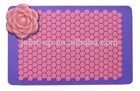 fleur de lotus acupression tapis de et oreiller cuhions