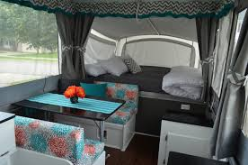 Camper Remodel Ideas Pop Up Campers And Camping Living Room Astonishing Old Travel Trailer Interior
